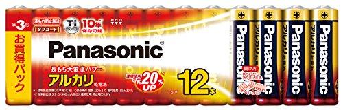 パナソニックアルカリ乾電池単3形12本LR6XJ/12SW