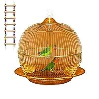 鳥かご 鳥ケージ 豪華ケージ 大きいケージ バードケージ バードパレス オウムケージ はしご ブランコ付き 文鳥インコ ゴールド 38×38cm
