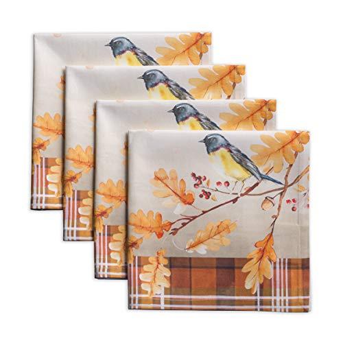 Maison d' Hermine Oak Leaves 100% Baumwolle Weiches und bequemes 4er-Set Servietten Perfekt für Familienessen | Hochzeiten | Cocktail | Küche | Startseite | Erntedankfest/Weihnachten (45 cm x 45 cm)