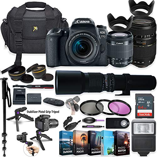 Canon EOS 77D DSLR Camera with 18-55mm Lens,...