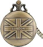 SILOLA Vintage Bronze Quarz Taschenuhr, Zodiac Dog Taschenuhren, lesbare arabische Ziffern Anhänger Uhr für Geschenke für Männer Frauen Jungen
