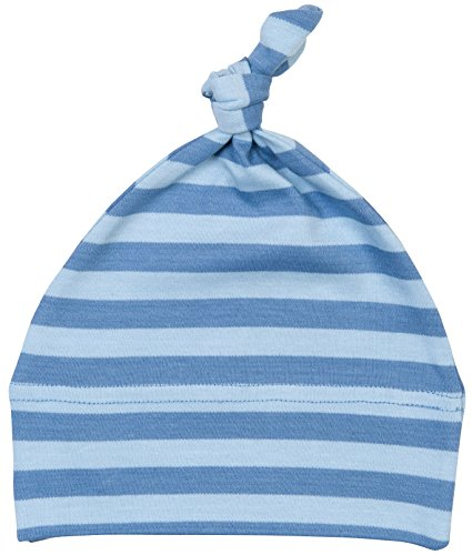 Baby Rayé One Nœud Chapeau par Babybugz - Antique Bleu/ Bleu-gris, Antique Blue/ Dusty Blue