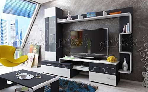 Arredodacasa.com Parete attrezzata Mobile Soggiorno Design Moderno Modello SU3