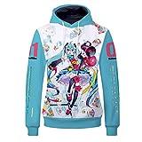 Anime 3D Printed Hatsune Miku Cosplay Pullover Jacket Unisex Adult Costume Sweatshirt Hoodie Tops 03 S