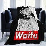 Wakaltk My Hero Academia Toga Waifu Comfortable Extra Soft Microfiber Fleece Blanket Fluffy Cozy Blanket for Couch Sofa Bed 50' X40''