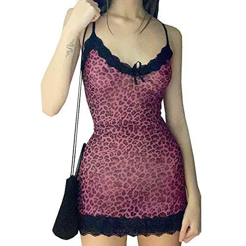 Women's Juniors Lace Patchwork Spaghetti Strap Camisole Dresses Y2k...