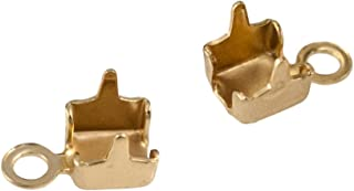 Cup Chain End Connector (Package of 2) (3mm, Gold Plated)