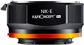 K&F Concept 【2020進化版】 マウントアダプター NIKON Fレンズ-SONY NEX Eカメラ装着 PROⅡ 艶消し仕上げ 反射防止 無限遠実現 M11105 メーカー直営店
