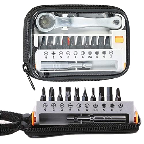 Juego de Destornilladores de trinquete de precisión 12 en 1, Destornilladores de Puntas Intercambiables, Herramienta para Mantenimiento de electrodomésticos, reparación de Bicicletas y Motocicletas