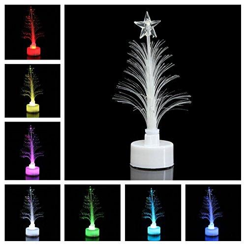 Toyvian 1 Set Multicolore Fibre Optique Sapin De Noël avec Stand Home Party Noël Décoration De Noël Cadeau