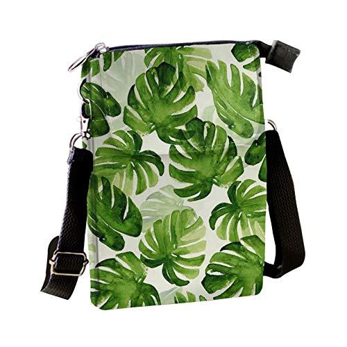 Dolyues Moda Crossbody bolsos cartera para mujeres, bolso de hombro con correa ajustable, lindo patrón animal monedero con cierre de cremallera, color Gris, talla Small