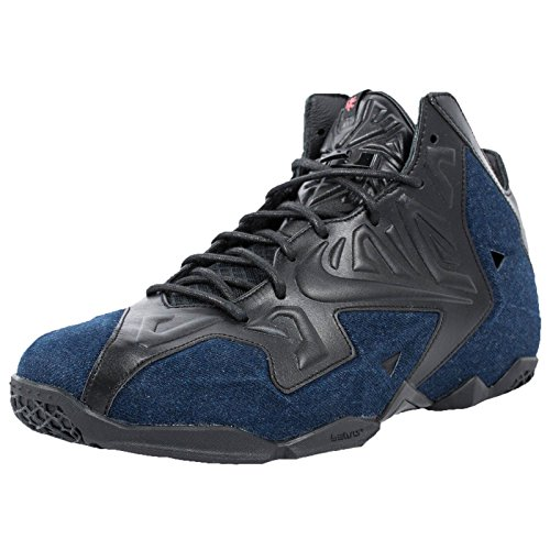 Lebron Xi (11) Extern Denim Qs - Schwarz / Black Denim, 10 D Us