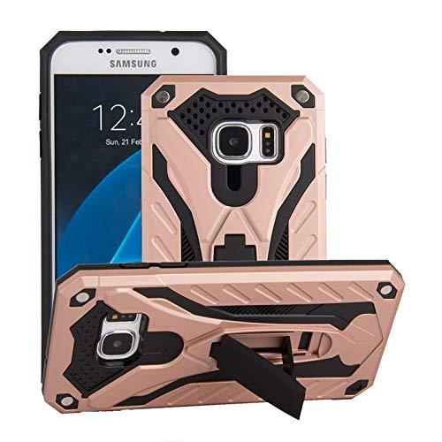 Carcasa rígida de doble capa a prueba de golpes para PC y TPU compatible con Samsung Galaxy S7 (color oro rosa)