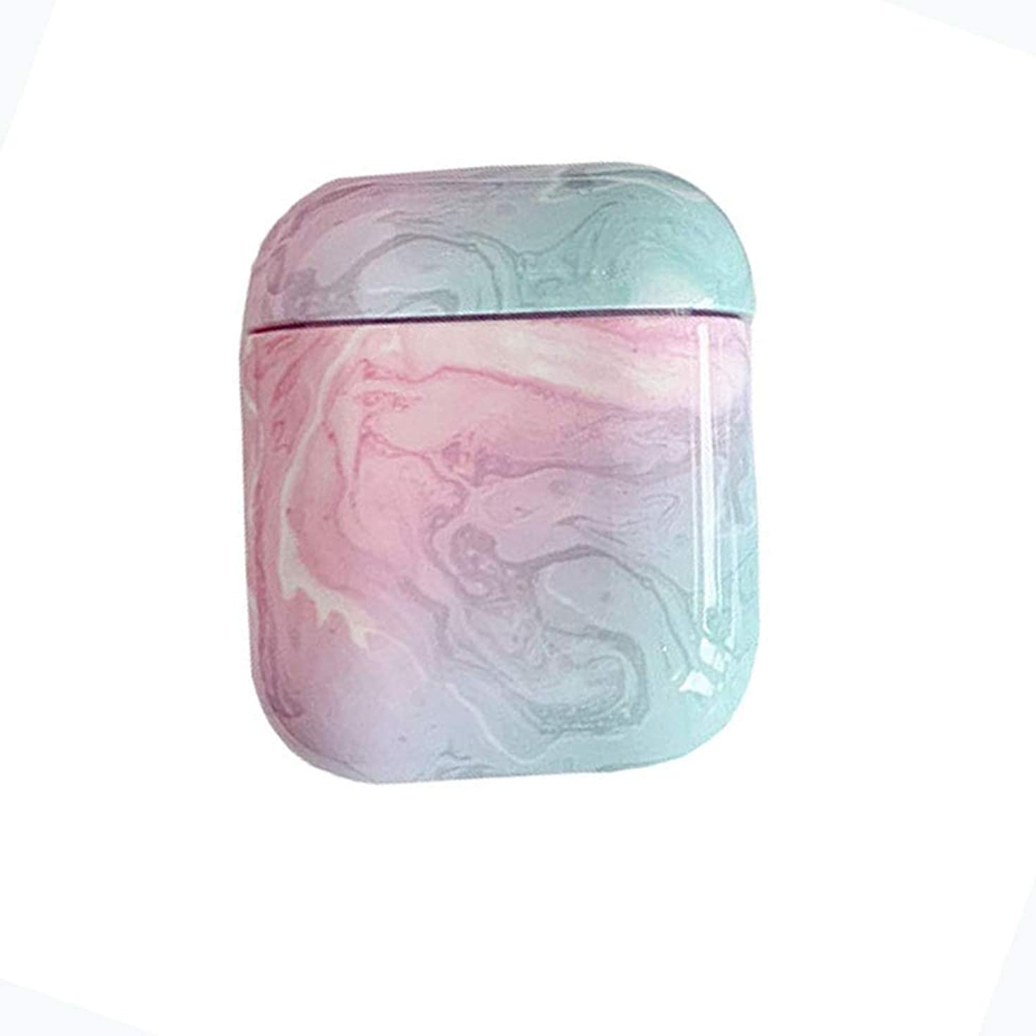 AirPods Case Protective, Mangix Marble Design PC [Support Wireless Charging] Dustproof Cover and Case for Apple AirPods (Marble/Pink)