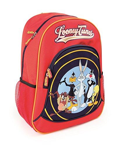Mochila escolar Looney Tunes para niños mochila mochila escolar | incluye dos bolsillos de malla a los lados y mucho espacio de almacenamiento | acolchado óptimo de las correas de transporte | tamaño