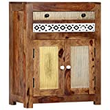 """Storage Side Cabinet, Vevelux Solid Sheesham Wood Dining Buffet Sideboard 23.6""""x11.8""""x29.5"""""""