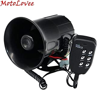 Universal 12V 100W Auto Car Loud Horn 105-115db Siren With 6 Sound Tone Megaphone Alarm For Motorcycles Van Truck Boat (Color : Black)
