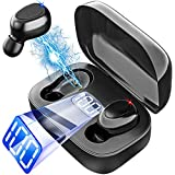 Wireless Earbuds, Bluetooth 5.0 True Wireless Earbuds in-Ear Headsets with Mic CVC 8.0 Noise Cancelling, IPX5 Waterproof, Single/Twin Mode,USB-C Quick Charge