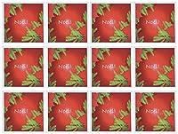 Yves Creationsクリスマスポインセチア–赤でクリスマスポインセチアNoel–グリーティングカード Set of 12 Greeting Cards