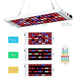 Led Grow Lights,300W Led Grow Light for Indoor Plants with 4 Dimmable Levels 3 Modes Timing Function,Indoor Grow Lights for Seed Starting,Hydroponics Growing Light, Multiple Panels Can Be Conn