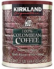 Kirkland Signature 100% Colombiaans koffiefilter Supremo Bean Dark Roast Fine Grind 1,36 kg