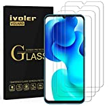 ivoler 4 Unidades Protector de Pantalla para Samsung Galaxy M12 / A12 / A32 5G / A42 5G / Xiaomi Mi 10 Lite 5G / OPPO A15, Cristal Vidrio Templado Premium, 9H Dureza, Antiarañazos, Sin Burbujas