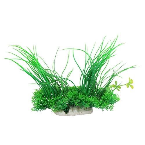 sourcing map Wasserpflanzen PietyPet Kunststoff Aquariumpflanze Dekoration Jardin Aquarium-Pflanze Kunststoff 20 cm Grün
