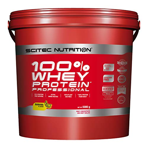 Scitec Nutrition Protein 100% Whey Protein Professional, Banane, 5000g