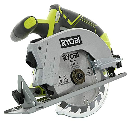Bulk Packaged Ryobi P506 One+ Lithium Ion 18 Volt 5 1/2 Inch Cordless Circular Saw (Bare Tool, Battery and Charger Sold Separately)
