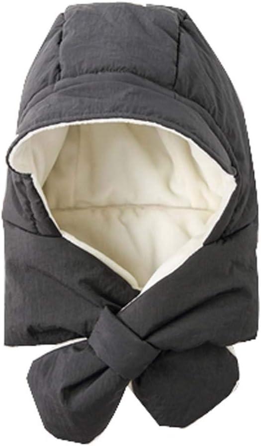 DRAGON SONIC Baby Winter Cap Earflap Hood Scarf Kids Unisex, Black