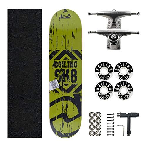 skateboard erwachsene Skateboard 31 Zoll 7 Schichten Maple Skateboard Double Kick Trick Tanz Shortboard Skateboard Skateboard Komplettes Board Longboard Einfach zu navigieren, Anfänger Teen Adult sk