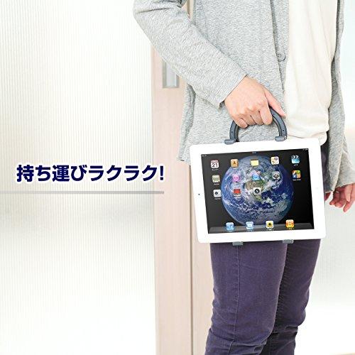 『サンワダイレクト iPad・タブレット ハンドルホルダー 3WAY タブレットスタンド/持ち運び取っ手/引っ掛ける 200-PDA050』の2枚目の画像