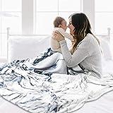Mizzeo Flannel Fleece Blanket Queen Size 84' x 90', Super Soft Blanket, All Season Lightweight Warm Plush Cozy Blanket for Bed - Swirling Marble Pattern
