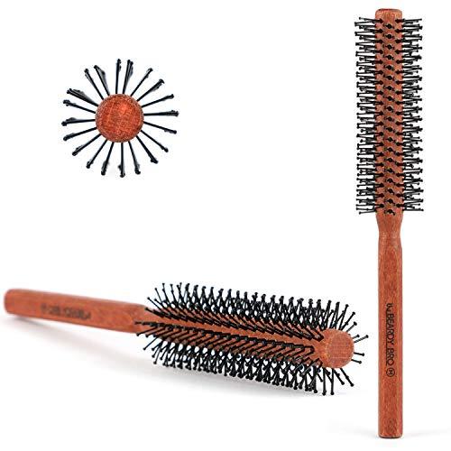 The Beardy Bro I Männer Rundbürste für den Bart und Haare I Bartbürste für den Mann mit Bart I Föhnbürste mit speziellen Noppen I Haarbürste für kurze bis mittellange Haare (2. Medium 32mm)
