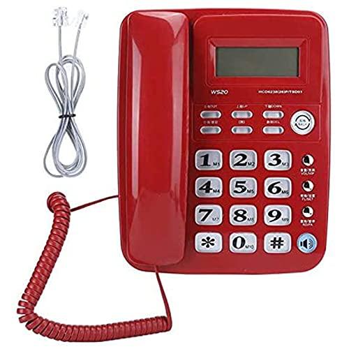 ZARTPMO Teléfono Fijo Fijo Oficina Domicilio Comercial Teléfono De Identificación De Llamadas Telefónico Fijo Manos Libres Teléfono Fijo