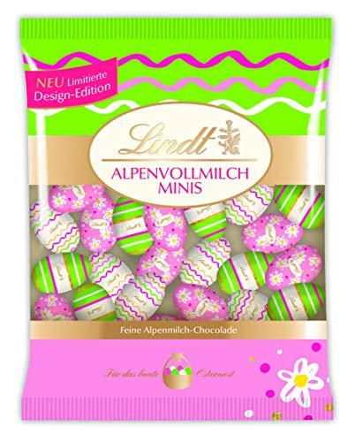 Lindt Deko Edition, Mini-Eier, Bunt, Feine Alpenvollmilch-Chocolade zu Ostern, 1er Pack (1 x 180 g)