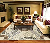 Large Area Rugs 8x11 Dining Room Rugs for Hardwood Floors Cream Black Rug 8x10 Area Rugs Rugs