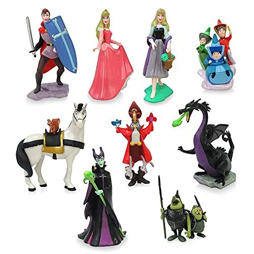 Disney Store Sleeping Beauty Deluxe - Figura decorativa (8 unidades, incluye 8...