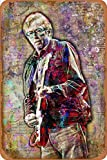 Cimily Eric Clapton Art Poster Vintage Blechschild