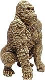 Kare Design Deko Figur Gorilla, Gold, 46x28x28cm