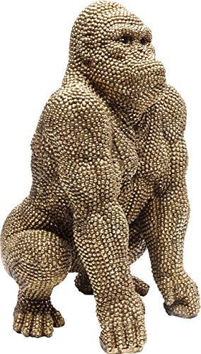 Kare Deko Figur Gorilla Gold 46cm, One Size