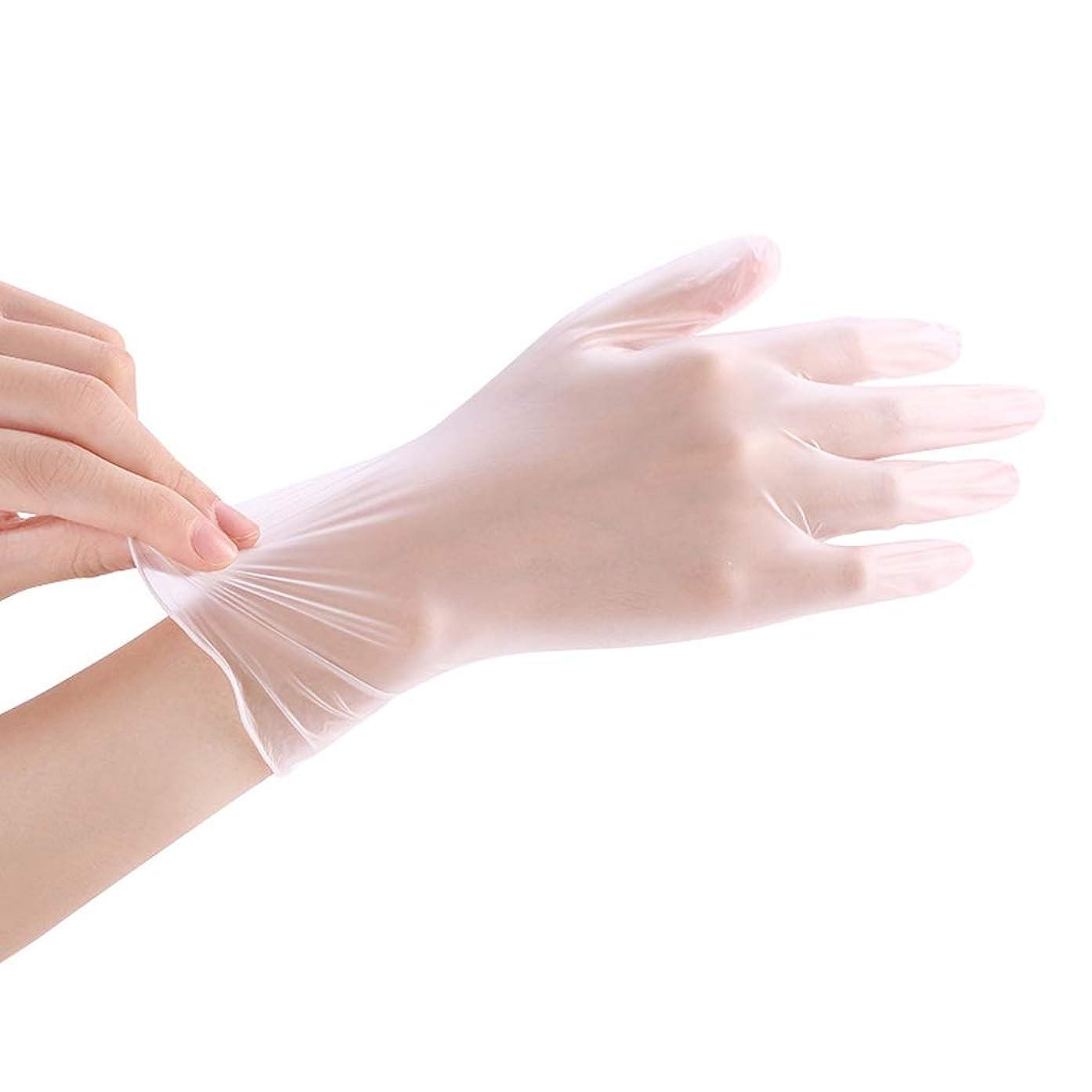 増幅する式アクセサリー使い捨て透明食品ケータリンググレードPVC手袋美容キッチンベーキングフィルム手袋200 YANW (色 : トランスペアレント, サイズ さいず : L l)