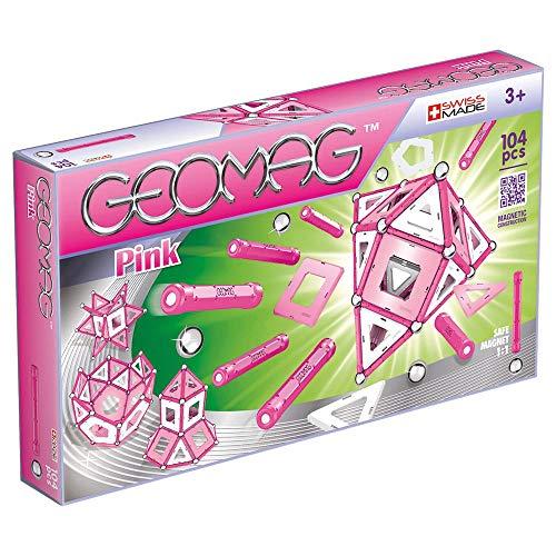 Geomag Pink Construcciones magnéticas y juegos educativos, 104 Pizas (344), Multicolor