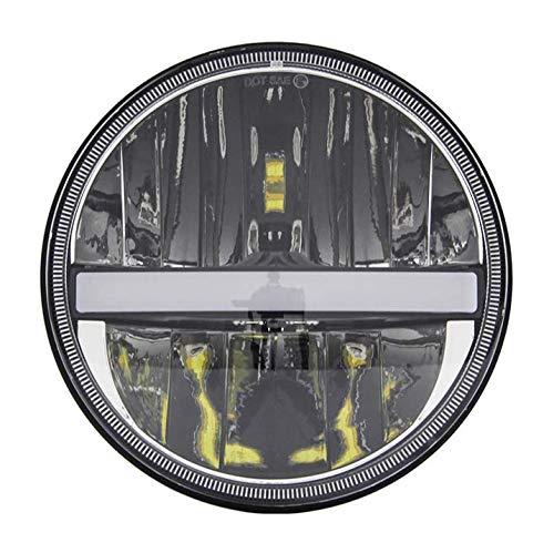 Fari LED tondi da 7'pollici con DRL con fasci alti/bassi per Wrangler CJ JK TJ 97-2015, Harley Davidson, Chrome