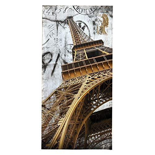 OZINCI Toalla de Playa con diseño de Torre Eiffel de París, Ideal para Playa y Piscina para Adultos y niños, Toalla de algodón Turco, Toallas Grandes absorbentes y supersuaves