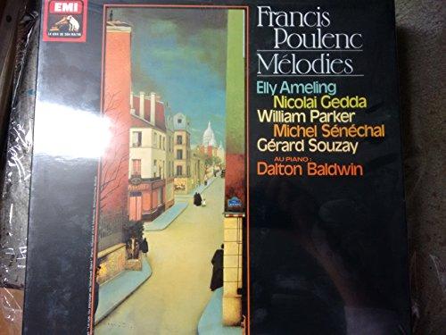 POULENC, Francis: Melodies -- EMI (1979)-Ameling, Gedda, Senechal, Souzay, Baldwin (piano)-Vinyl LP-EMI 2C 165 16231/5-POULENC Francis (Francia)-AMELING Elly (soprano); BALDWIN Dalton (pianoforte); GEDDA Nicolai (tenore); SENECHAL Michel (tenore); SOUZAY Gerard (baritono)