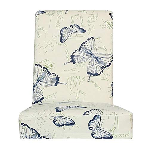 Durable Chair Cover Wear-resistant Butterfly Printing h Chair Cover Removable Restaurant Elastic Slipcovers-1PCS,United States
