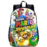 BATEKERYAS Mochila Escolar para Niños con Patrón De Dibujos Animados 3D Super Mario Bros, Adecuada...