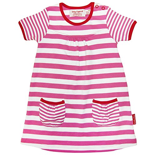 Toby Tiger - T-Shirt Manches Courtes - Fille - Rose - FR: 3 Ans (Taille Fabricant: 2-3 Years)