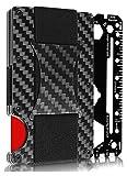 Carbon Fiber Money Clip Wallet - Metal Credit Card Wallet RFID - Mens Minimalist Front Pocket Wallets for Men- 2020 Version